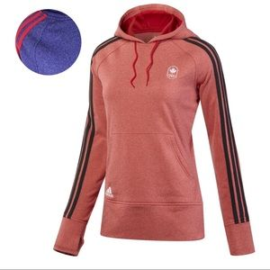 Adidas Olympic 3 Striped Purple Pullover Hoodie